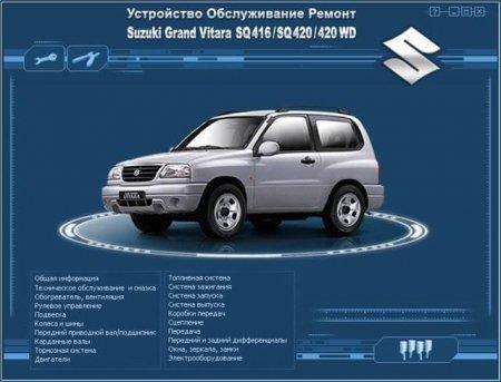Руководство по ремонту и обслуживанию автомобиля Suzuki Grand Vitara SQ416/SQ420/420 WD