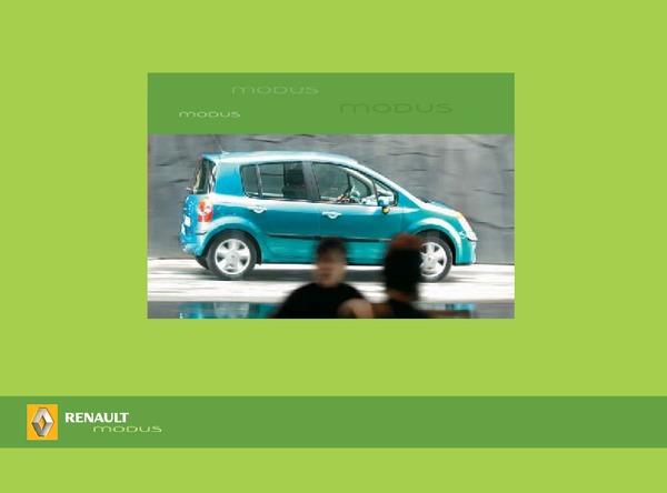 Renault Modus Руководство по эксплуатации