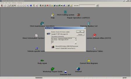 Скачать программу ELSA VW версия 4.0 4Q 2012 информационная база по ремонту автомобилей VW
